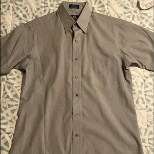 Stafford button down men's shirt grey size 15